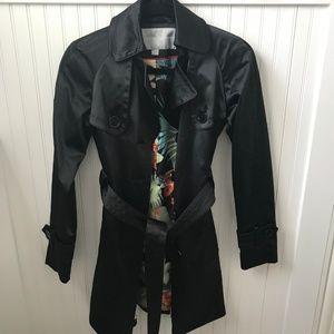 Jessica Simpson Black Trench Coat